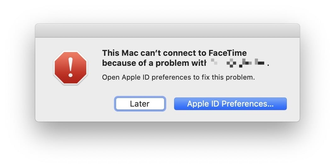 Can't connect to FaceTime