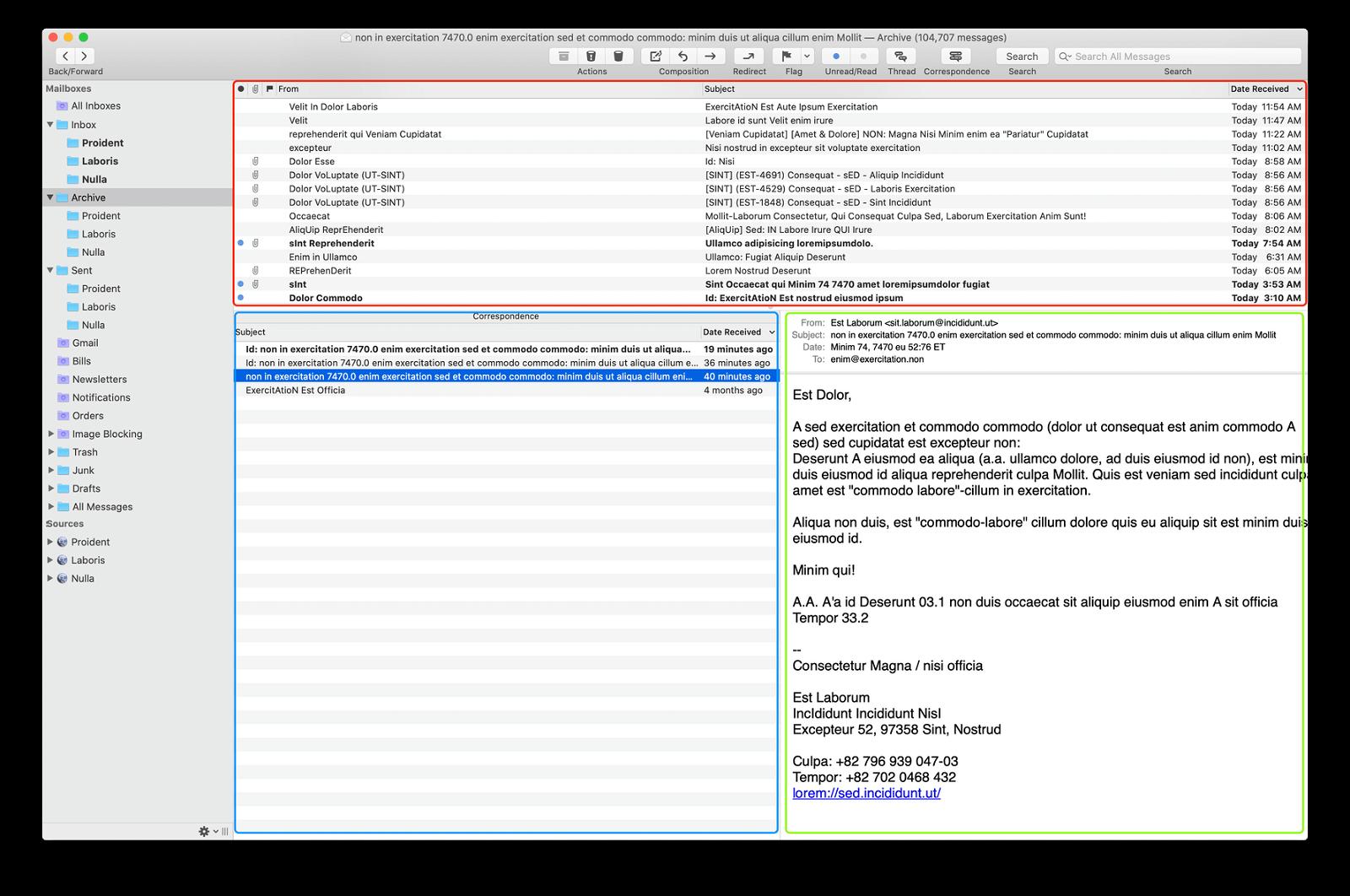 MailMate window